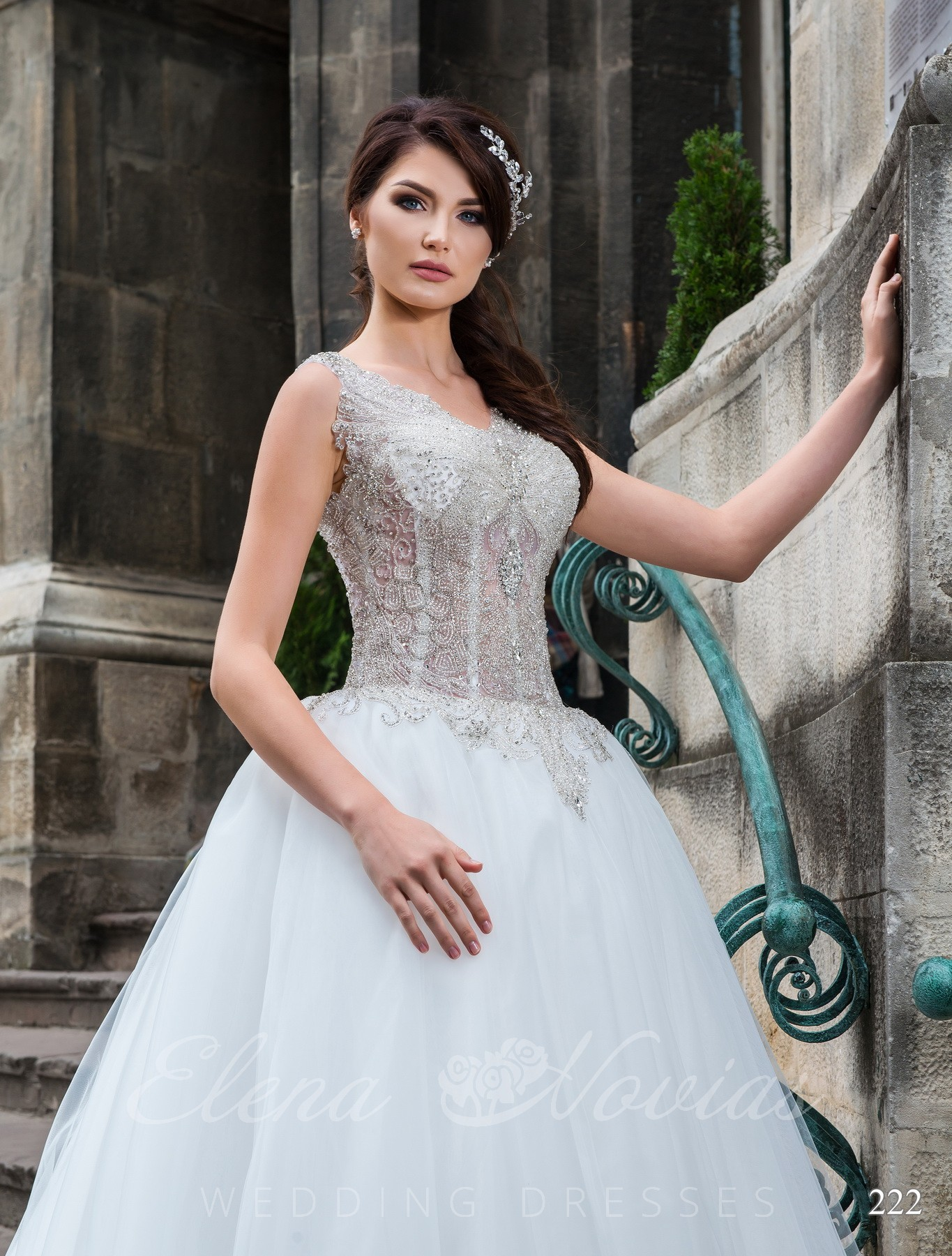 Wedding dress with transparent corset model 222