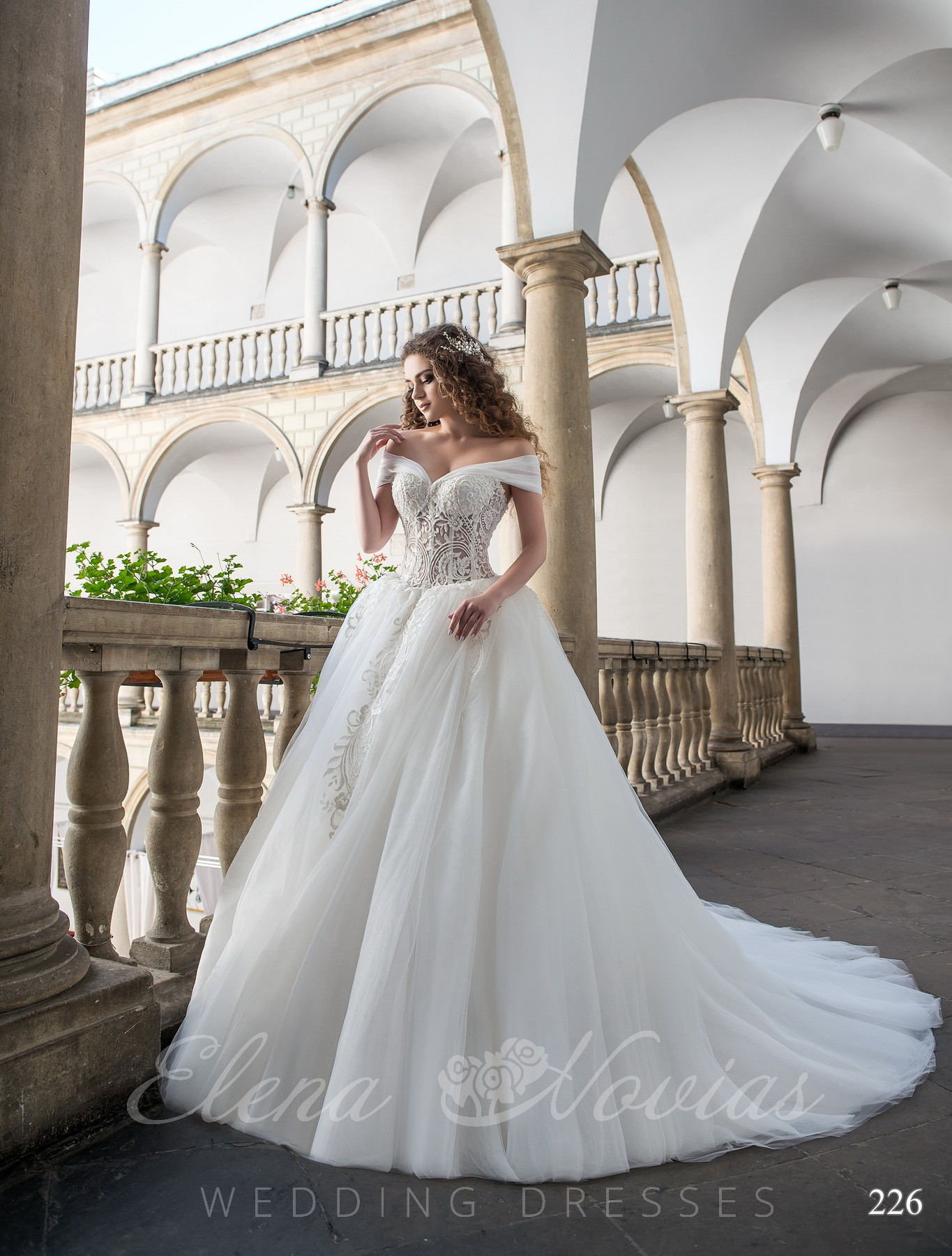 Wedding dress with beads model 226