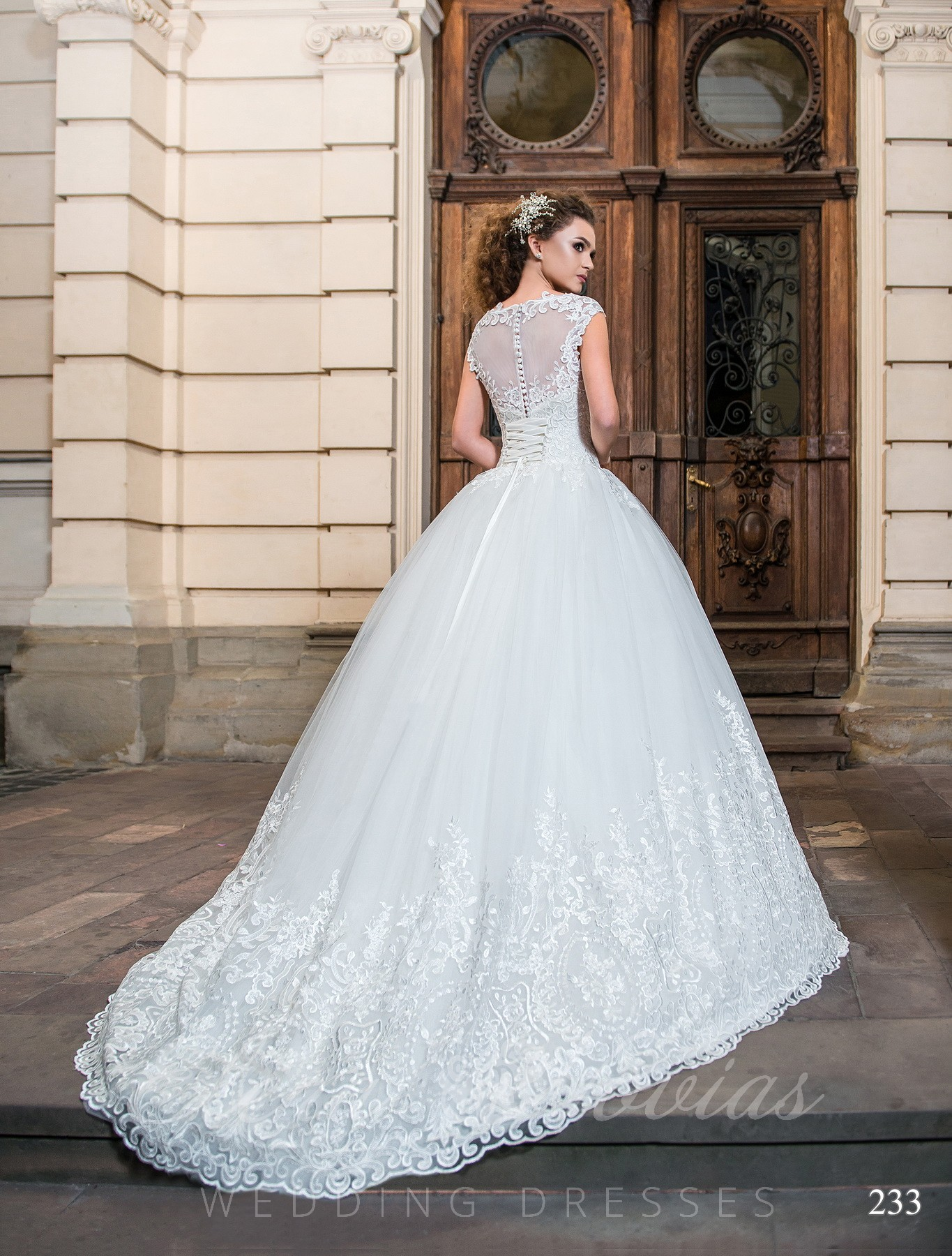 Wedding dress with embroidery model 233