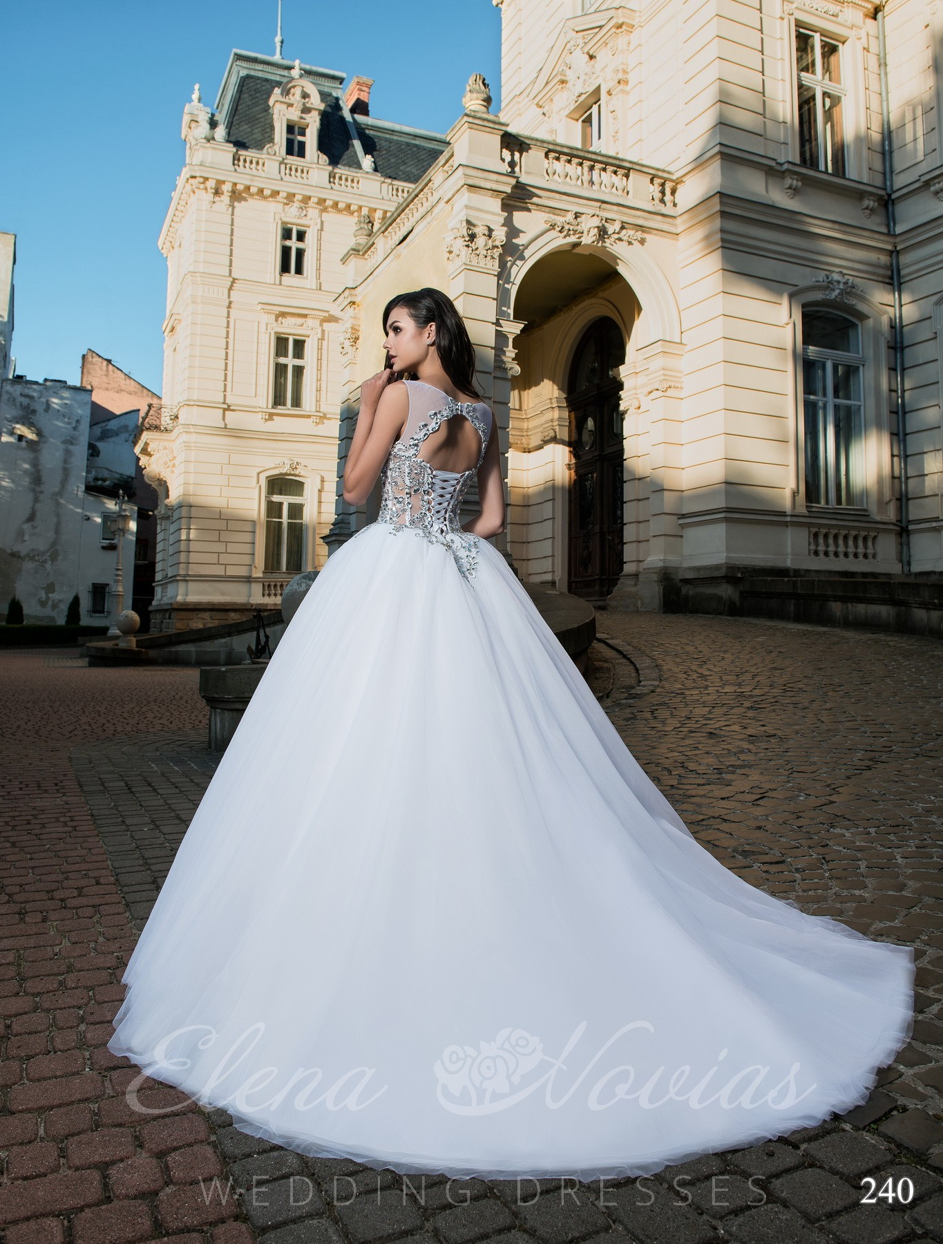 Wedding dress with Swarovski stones model 240