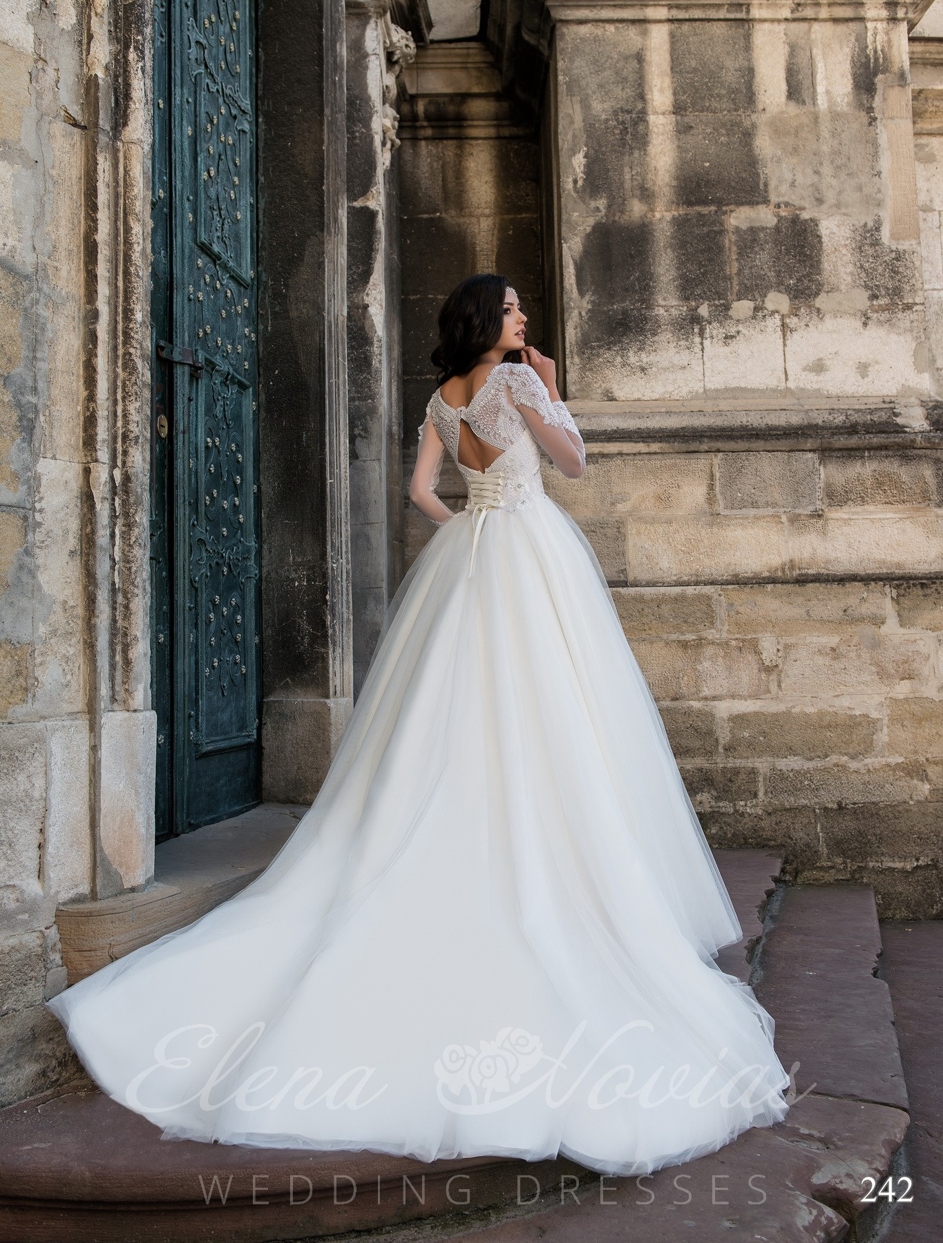 Wedding dress on the Vogue cover model 242