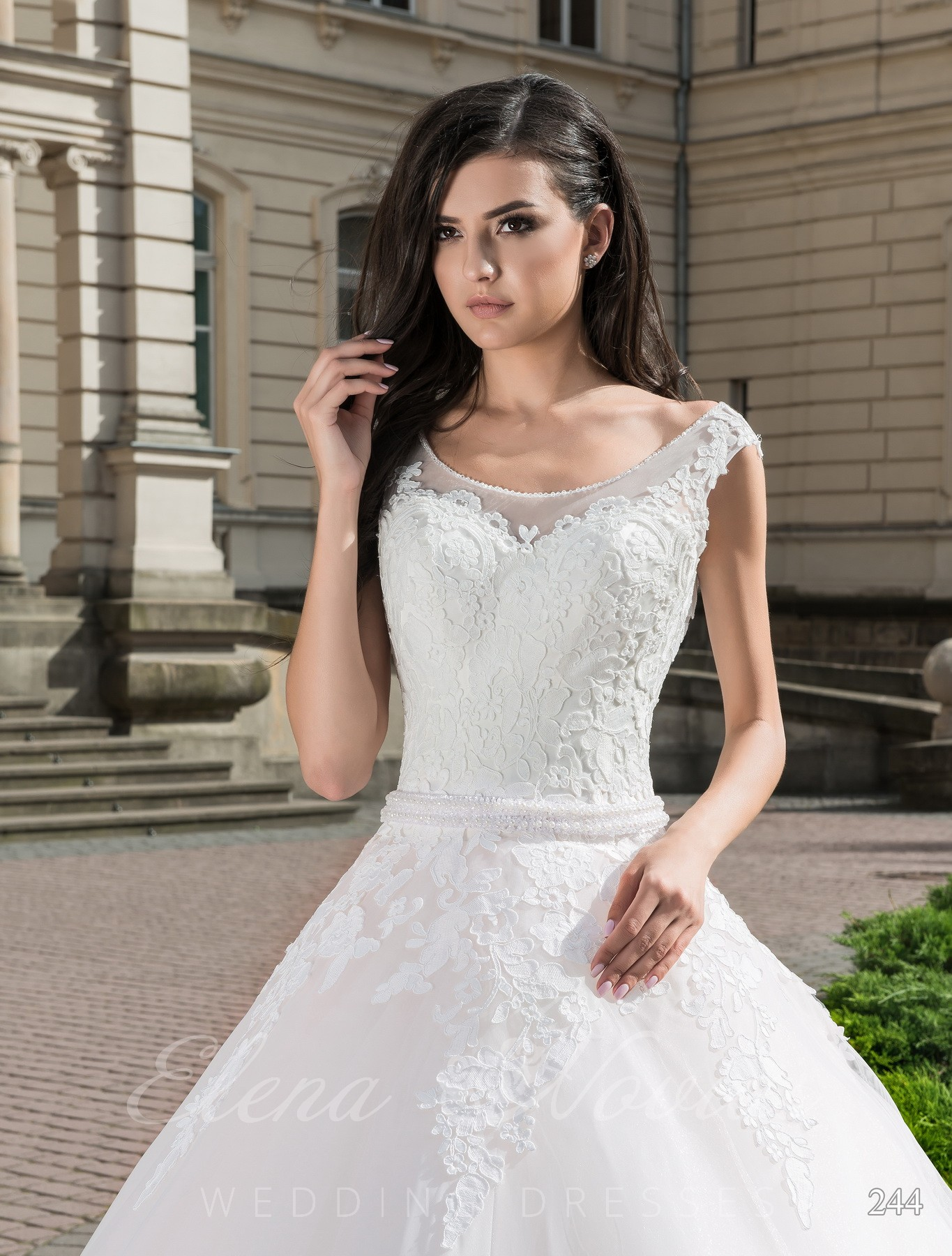 Wedding dress with a coupon model 244