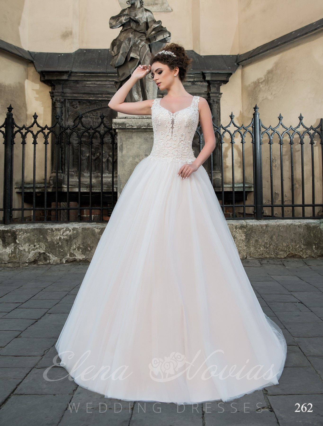 Wedding dress powder color model 262