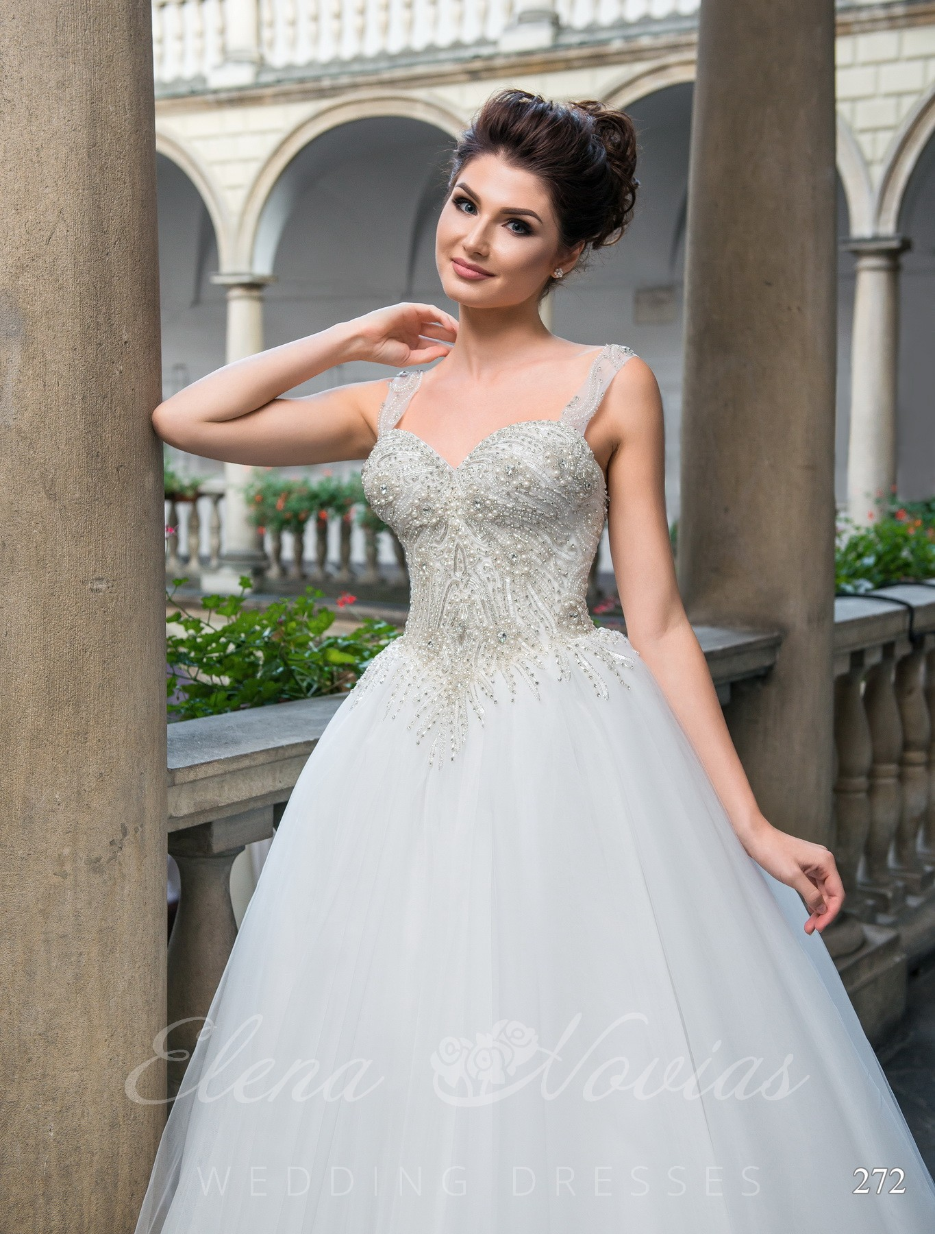 Wedding dress with a neckline model 272