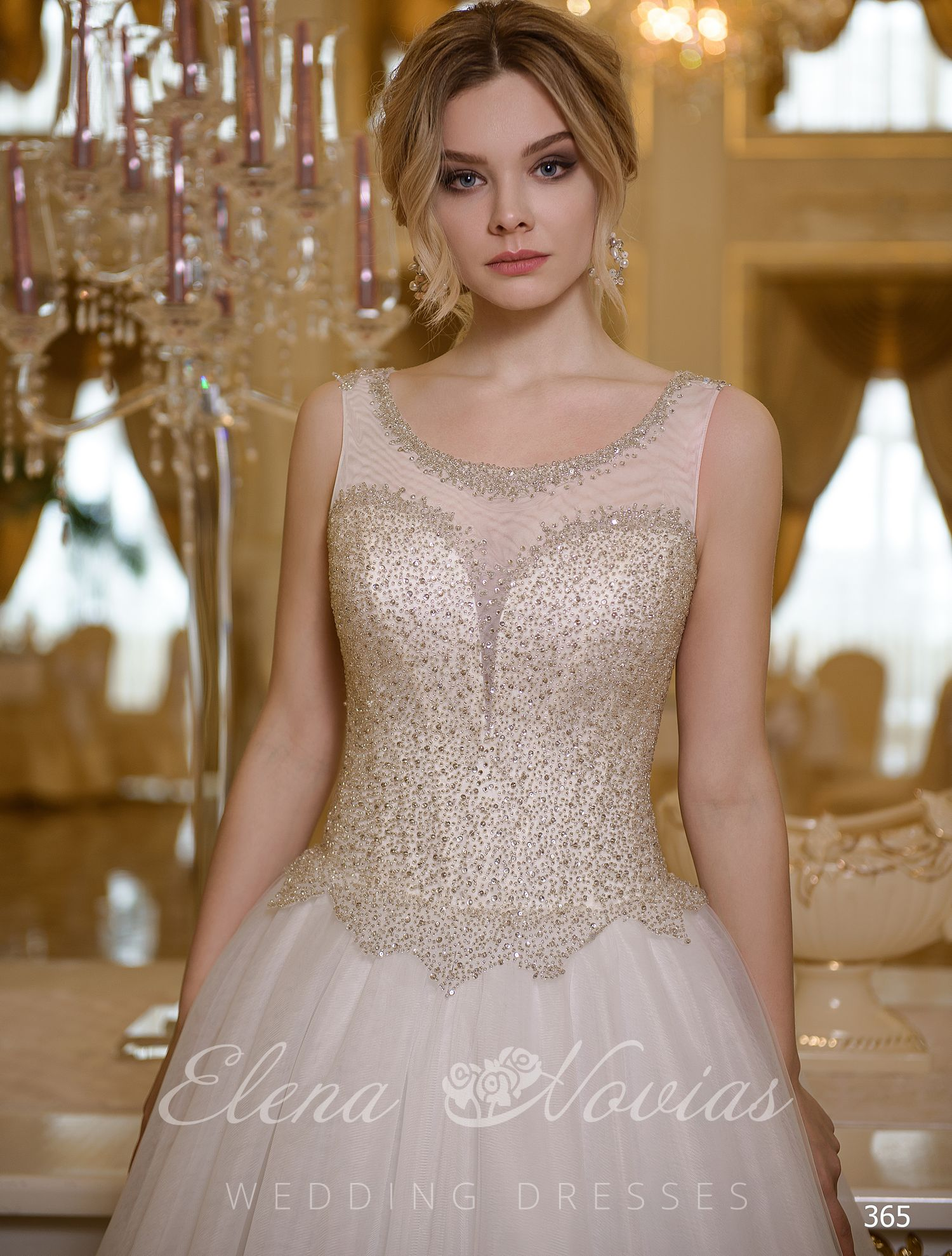 Lush dresses with closed top tank top from Elena Novias