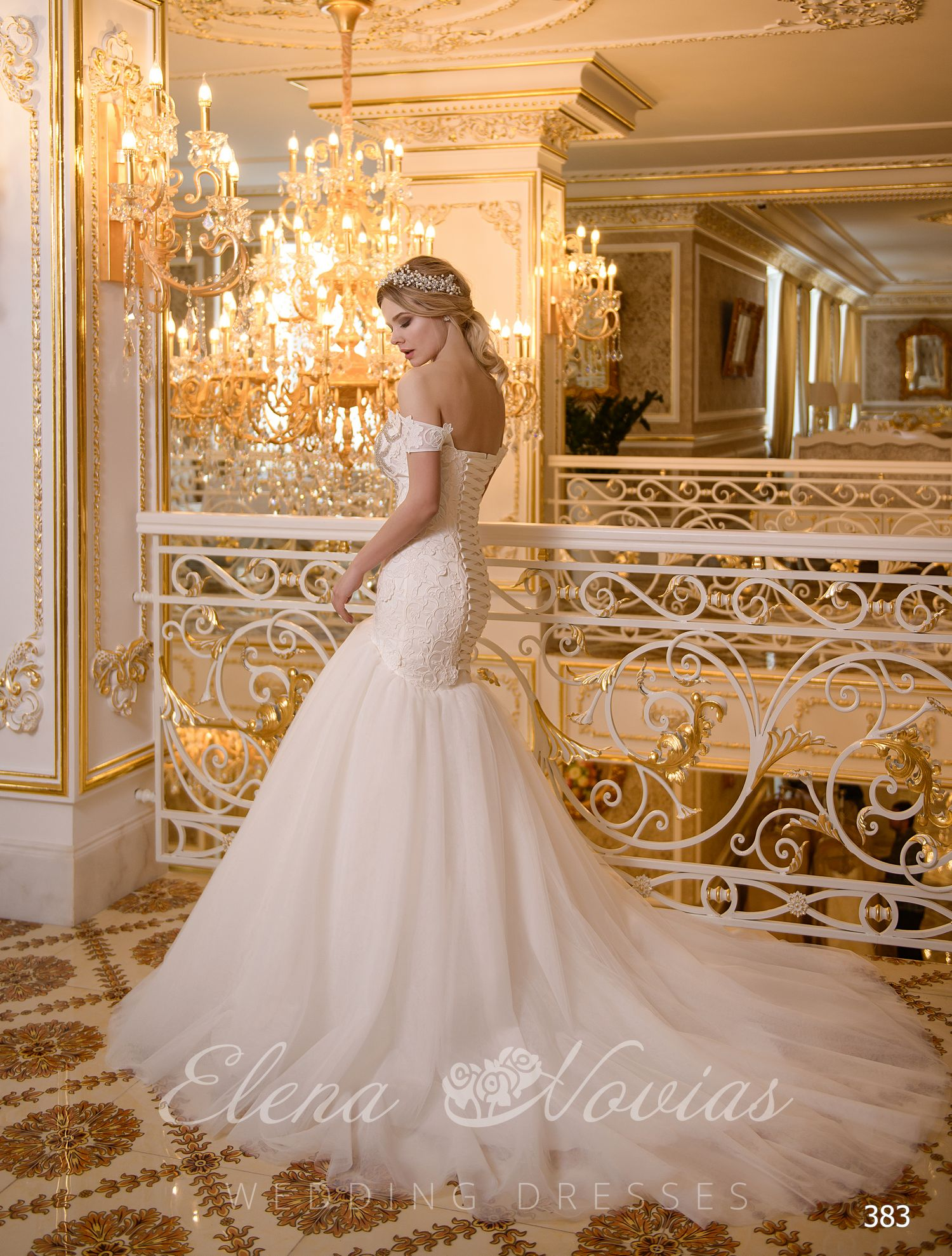 Elegant wedding dress Godet from Elenanovias