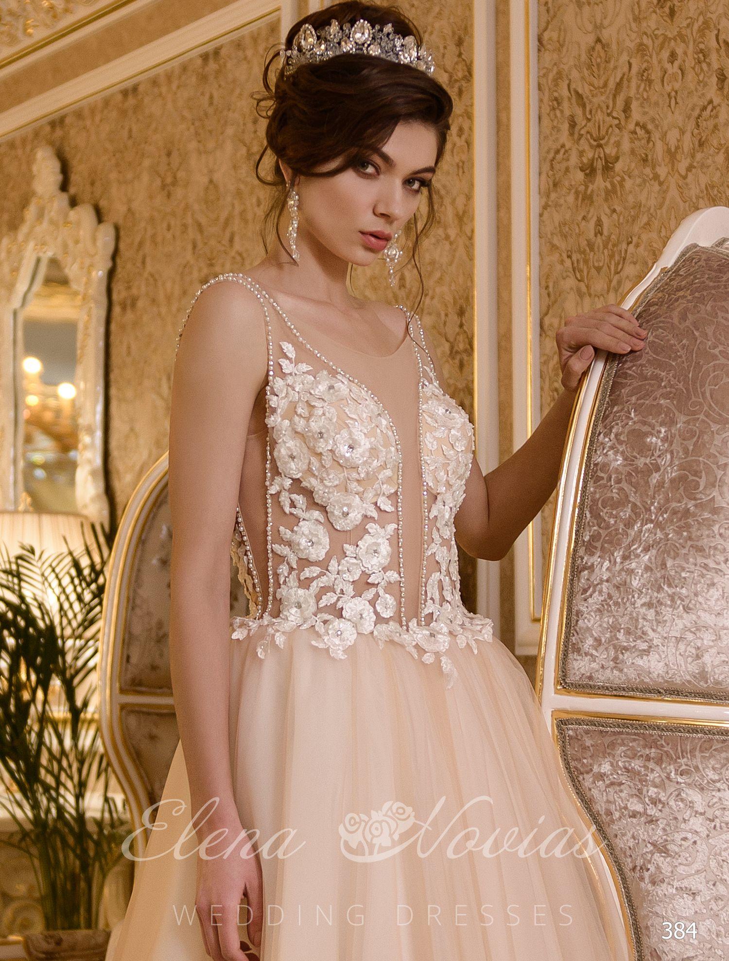 Свадебное платье айвори с расколотым корсетом