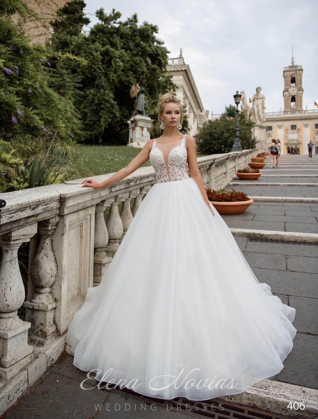Свадебное платье с полупрозрачным корсетом