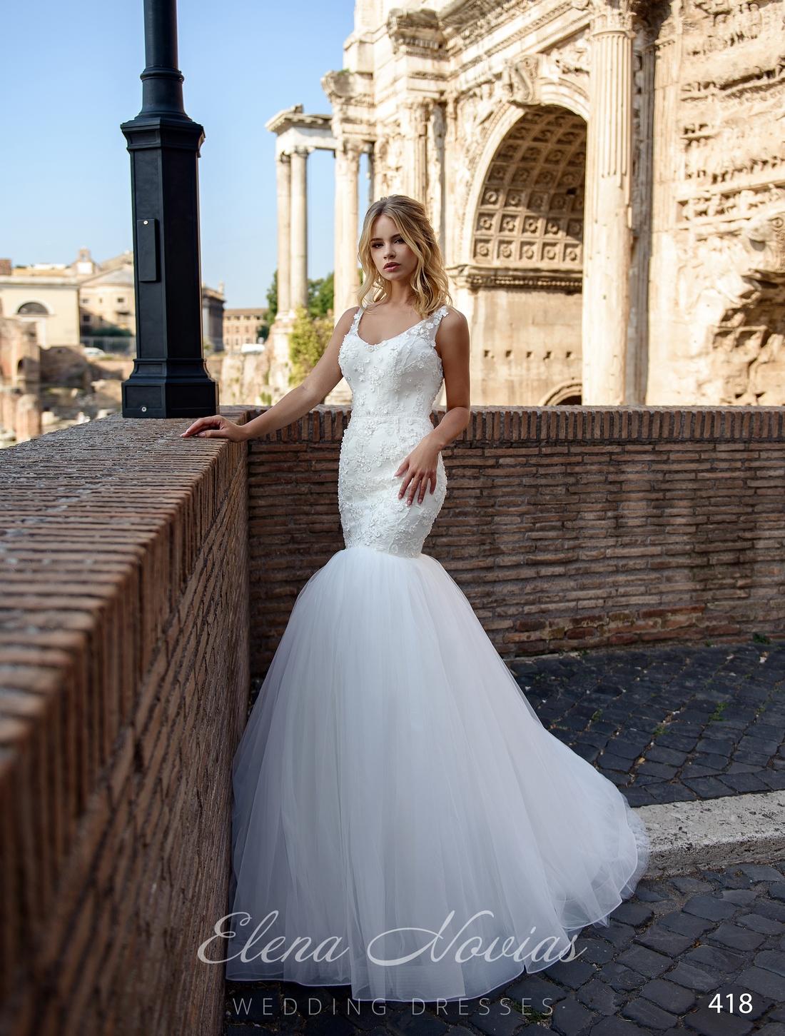 Свадебное платье рыбка с пышной юбкой