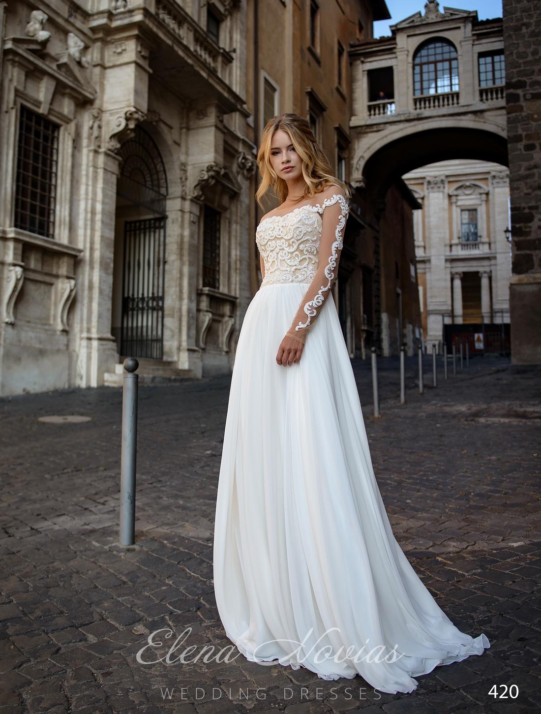 Свадебное платье с мягкой юбкой