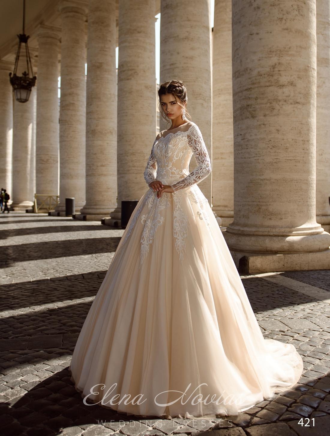 Кружевные свадебные платья с длинным рукавом оптом