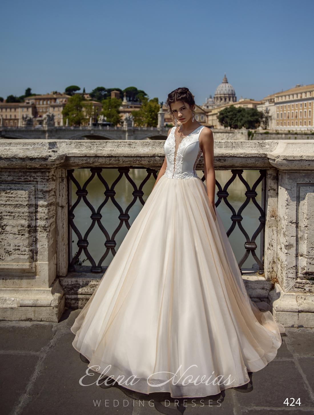 Свадебное платье с расколотым корсетом