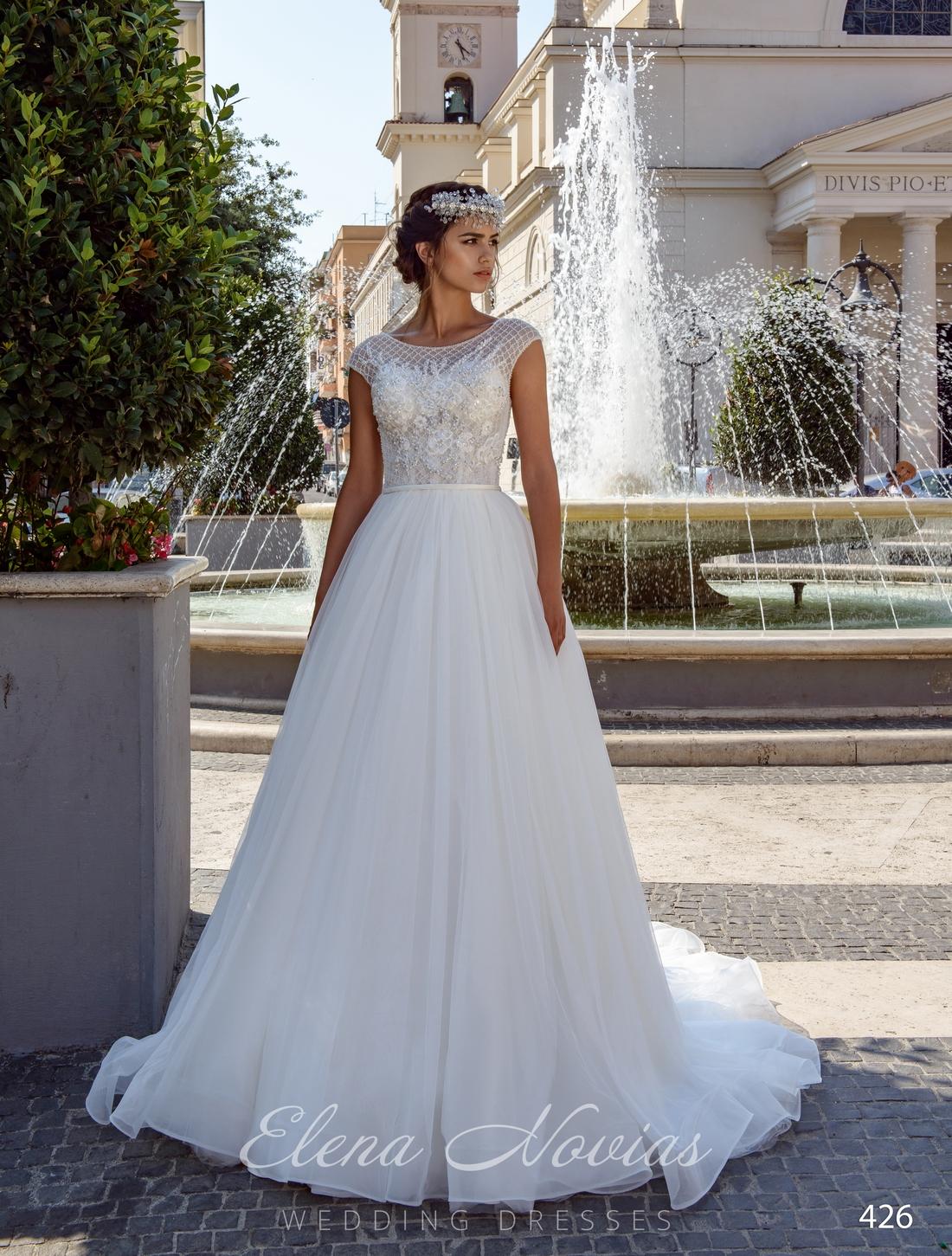 Классическое пышное свадебное платье на кокетке