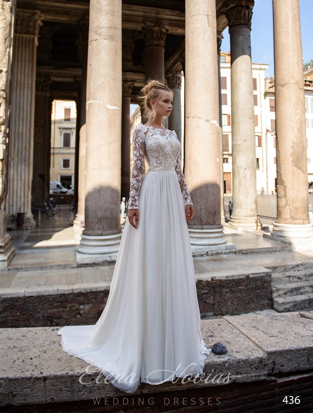 Прямое струящееся свадебное платье