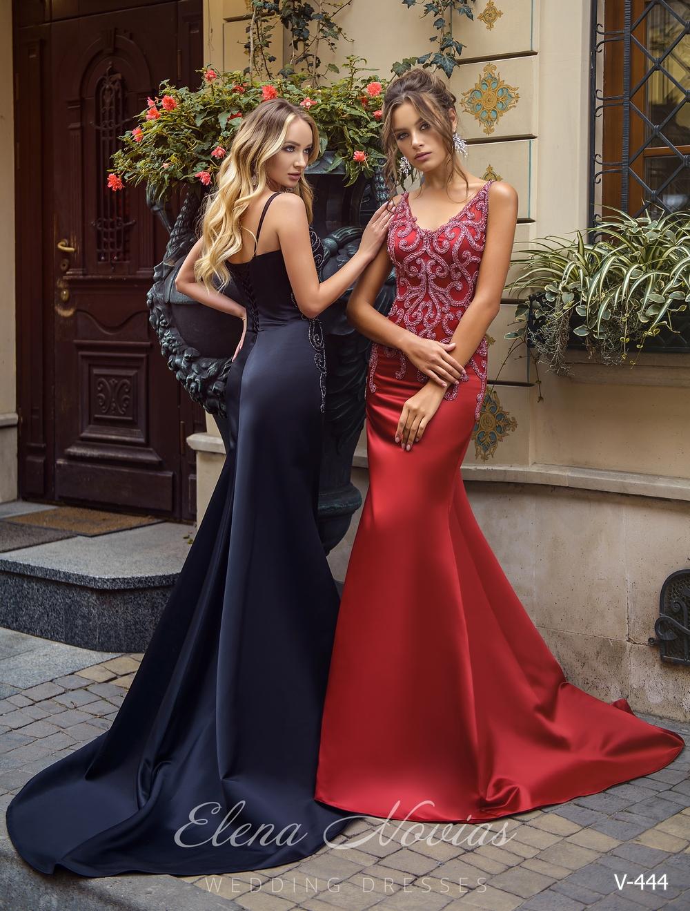 Облегающее вечернее платье со шлейфом