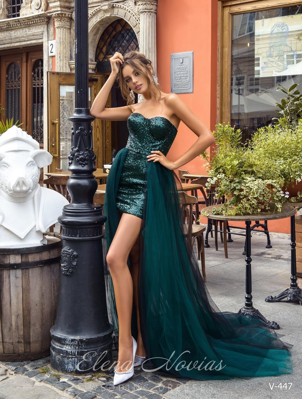 Вечернее платье из ткани-пайетки от Elena Novias оптом
