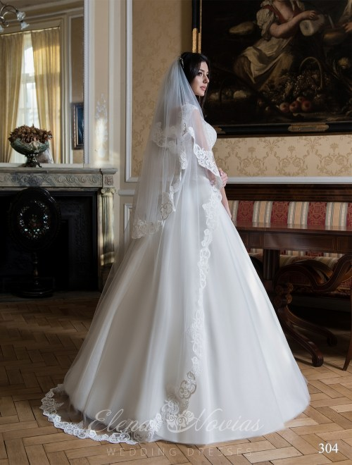 Lacy double-layer veil Veil-304
