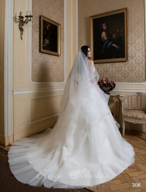 Длинная свадебная фата оптом