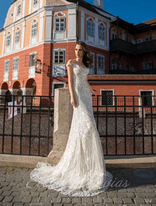 Straight Embroidered Wedding Dress on wholesale 314