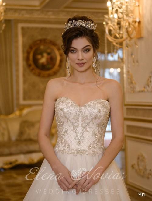 Свадебные платья с расшитым корсетом от Elenanovias оптом