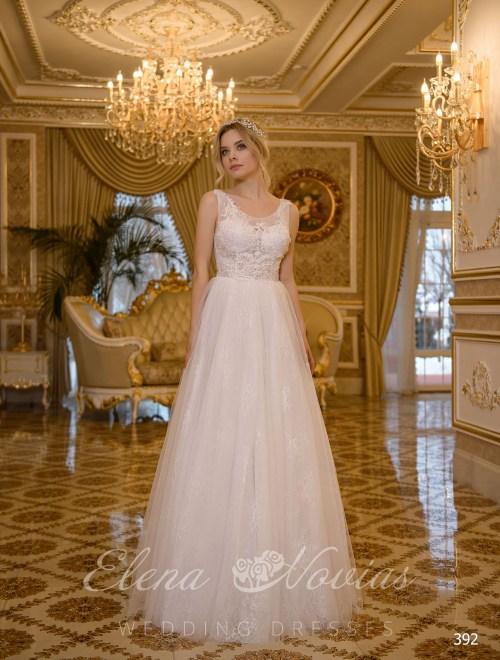 Свадебное платье А-силуэта от Elena Novias
